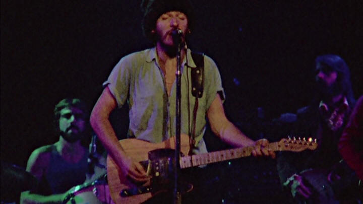 "Bruce Springsteen performing ROSALITA (COME OUT TONIGHT) during the 18 Nov 1975 show at Hammersmith Odeon, London, England (from the ""Hammersmith Odeon, London '75"" DVD)"