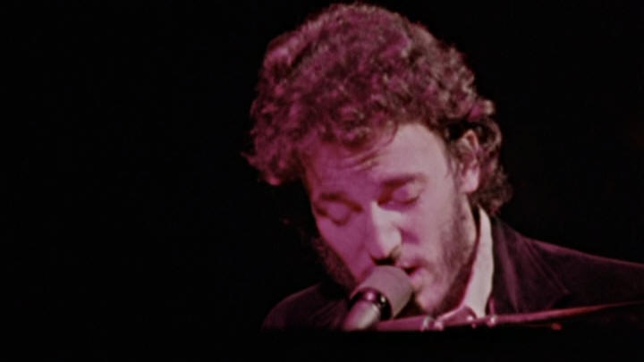 "Bruce Springsteen performing SPIRIT IN THE NIGHT on 01 May 1973 show at Ahmanson Theatre, Los Angeles, CA (from the ""Wings For Wheels: The Making Of Born To Run"" DVD)"