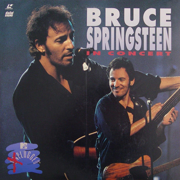 Bruce Springsteen -- In Concert / MTV Plugged (USA LaserDisc, front)