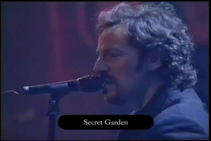 Bruce Springsteen performing SECRET GARDEN during the 05 Apr 1995 show at Sony Music Studios, New York City, NY