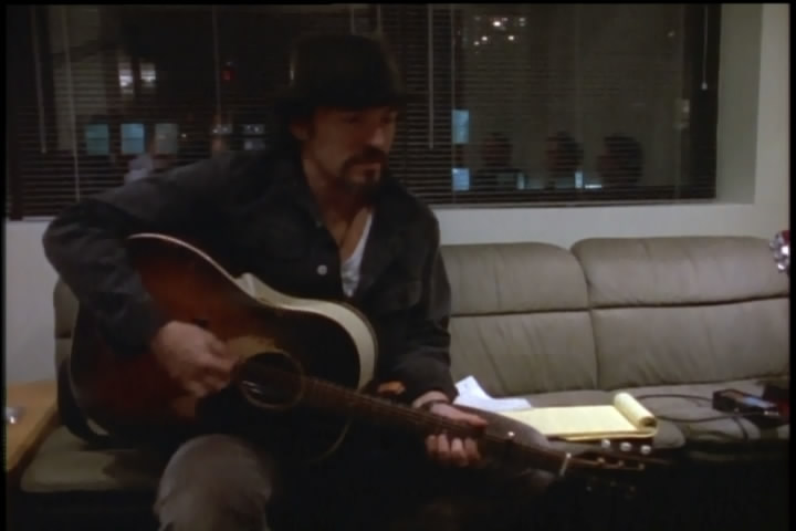 Bruce Springsteen playing BLOOD BROTHERS (solo acoustic demo #1) in studio (from the Blood Brothers documentary)