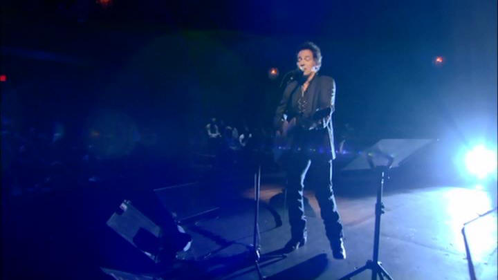 "Bruce Springsteen performing BLINDED BY THE LIGHT during the 04 Apr 2005 show at Rechnitz Theater, Red Bank, NJ (from the ""VH1 Storytellers"" DVD)"