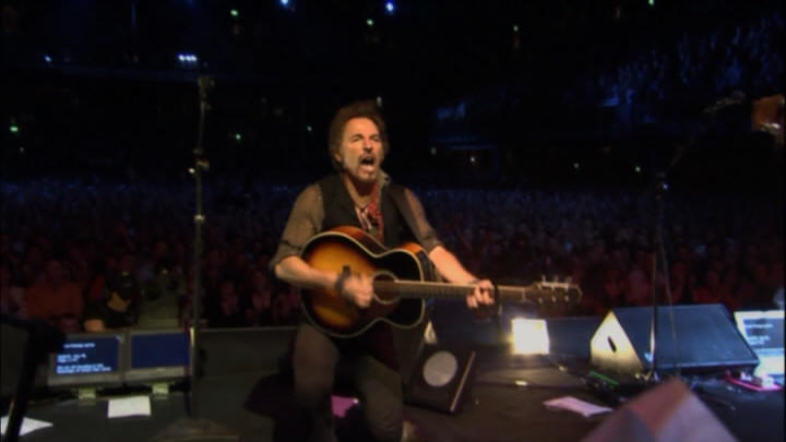 "Bruce Springsteen performing BLINDED BY THE LIGHT during the 19 Nov 2006 show at Point Theatre, Dublin, Ireland (from the ""Live In Dublin"" DVD)"