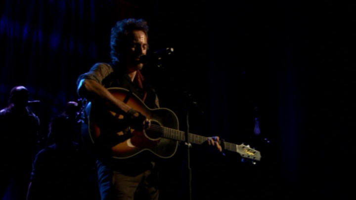 "Bruce Springsteen performing WHEN THE SAINTS GO MARCHING IN during the 19 Nov 2006 show at Point Theatre, Dublin, Ireland (from the ""Live In Dublin"" DVD)"
