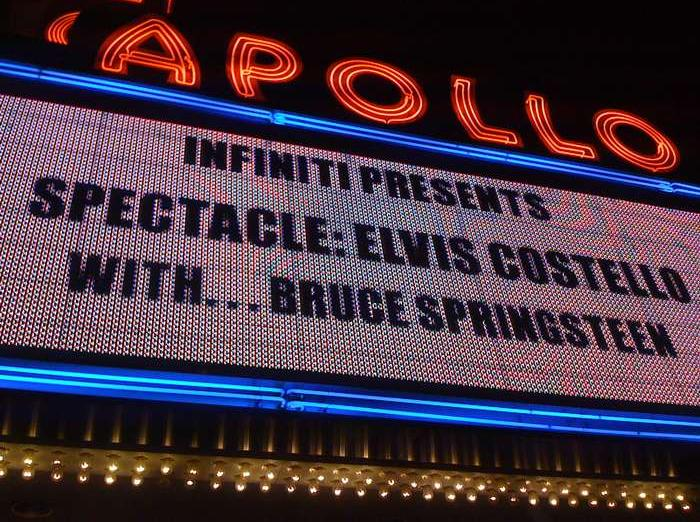 Marquee for the 25 Sep 2009 show at Apollo Theater, New York City, NY