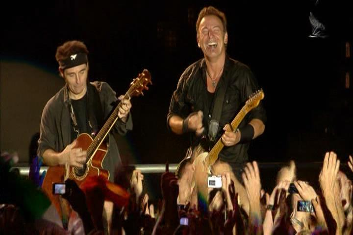 "Bruce Springsteen performing AMERICAN LAND on 28 Jun 2009 at Hyde Park, London, England (from the ""London Calling: Live In Hyde Park"" DVD)"