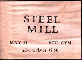 Promotional ad for the 23 May 1970 show at Virginia Commonwealth University, Richmond, VA