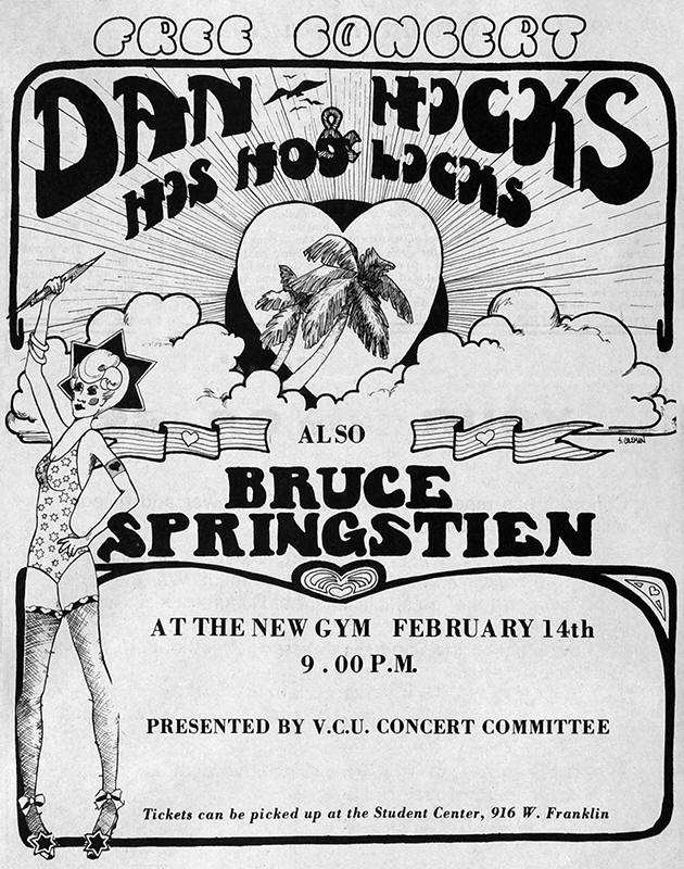 Promotional ad for the 14 Feb 1973 show at Virginia Commonwealth University, Richmond, VA