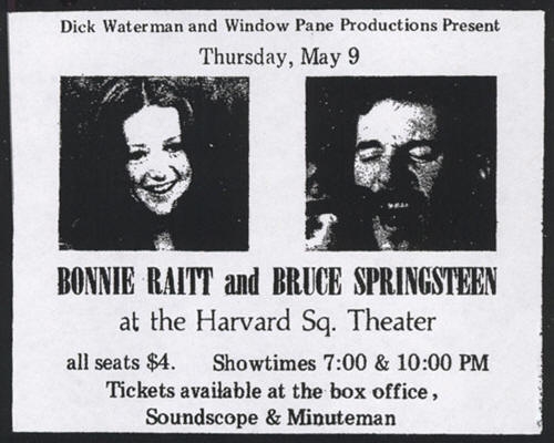 Promotional ad for the 09 May 1974 shows at Harvard Square Theatre, Cambridge, MA
