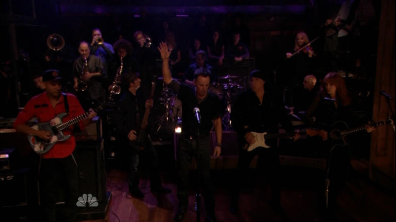 Bruce Springsteen performing JACK OF ALL TRADES with the E Street Band and Tom Morello on 02 Mar 2012 on Late Night With Jimmy Fallon (taken from the NBC broadcast)