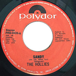 "The Hollies -- ""Sandy / Second Hand Hang-Ups"""