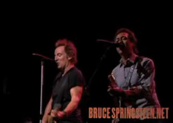Bruce Springsteen and Alejandro Escovedo performing ALWAYS A FRIEND on 14 Apr 2008 at Toyota Center, Houston, TX
