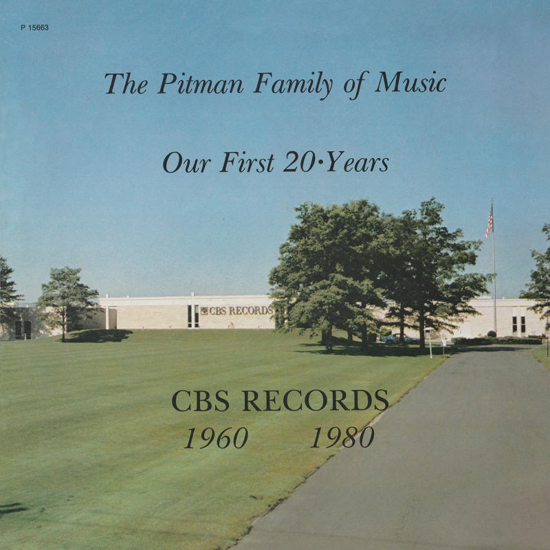 Various artists -- The Pitman Family Of Music - Our First 20 Years (LP front sleeve)