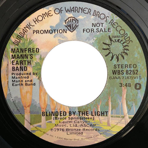 "Manfred Mann's Earth Band -- ""Blinded By The Light / Blinded By The Light"""