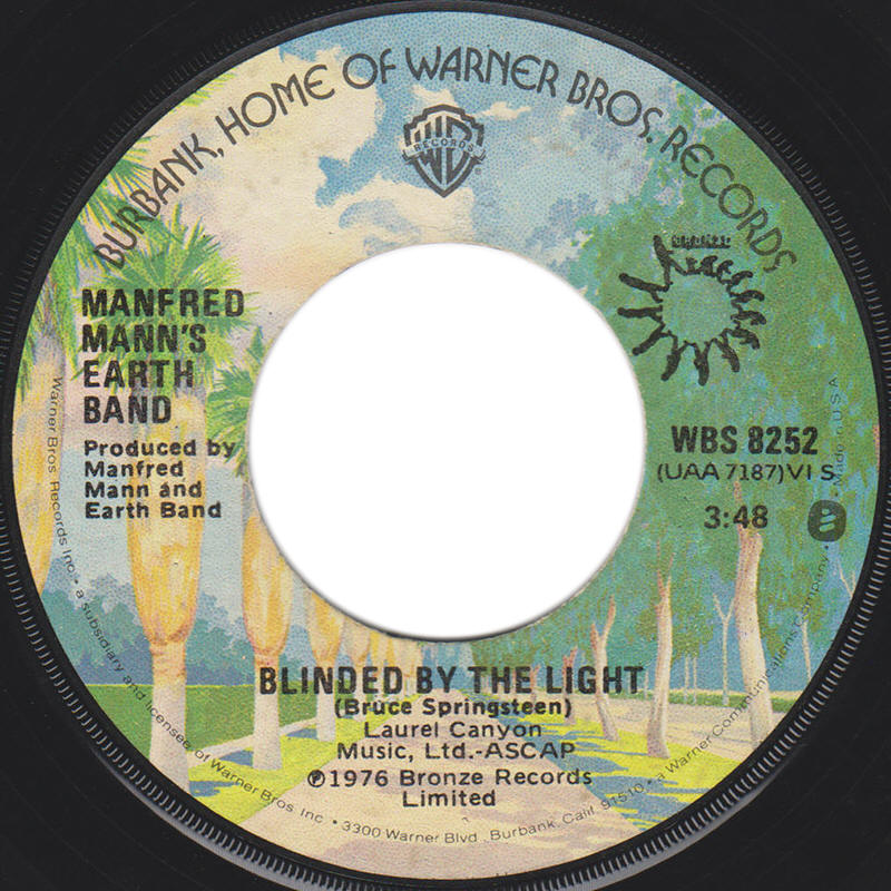 "Manfred Mann's Earth Band -- ""Blinded By The Light / Starbird No. 2"""