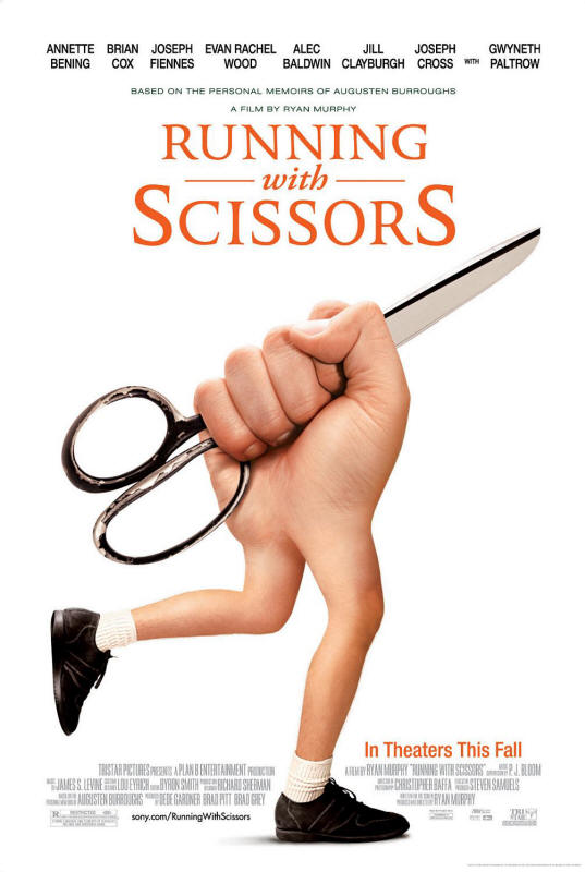 "Promotional poster for the film ""Running With Scissors"""