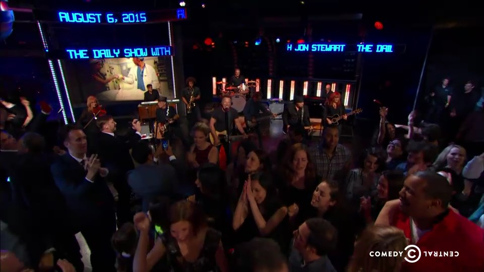 Bruce Springsteen & The E Street Band performing BORN TO RUN on the 06 Aug 2015 episode of The Daily Show With Jon Stewart