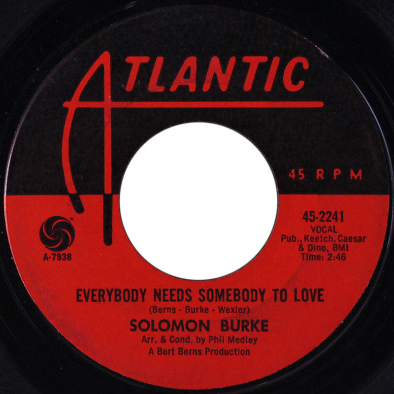 "Solomon Burke -- ""Everybody Needs Somebody To Love / Looking For My Baby"""