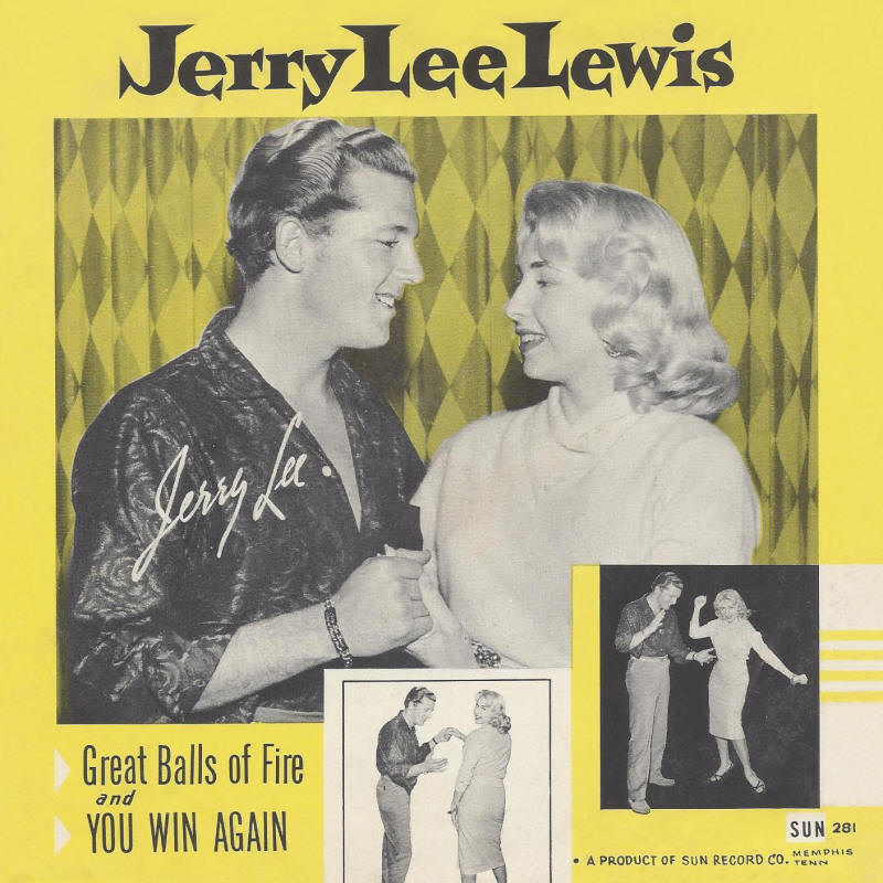 "Jerry Lee Lewis -- ""Great Balls Of Fire / You Win Again"" (front sleeve)"