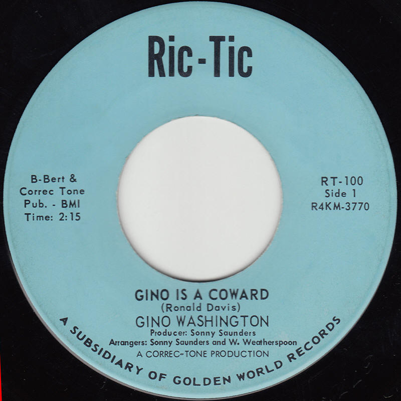 "Gino Washington -- ""Gino Is A Coward / Puppet On A String"""