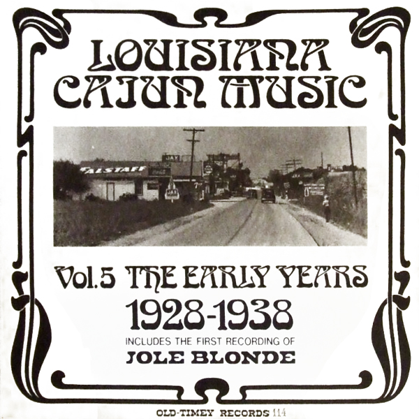 Various artists -- Louisiana Cajun Music Vol. 5: The Early Years 1928-1938 (album cover art)