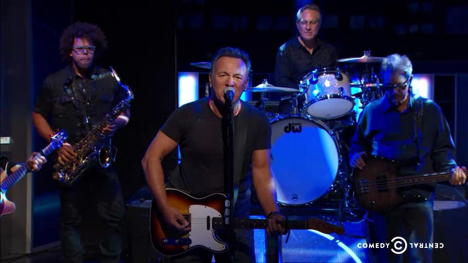 Bruce Springsteen & The E Street Band performing LAND OF HOPE AND DREAMS on the 06 Aug 2015 episode of The Daily Show With Jon Stewart