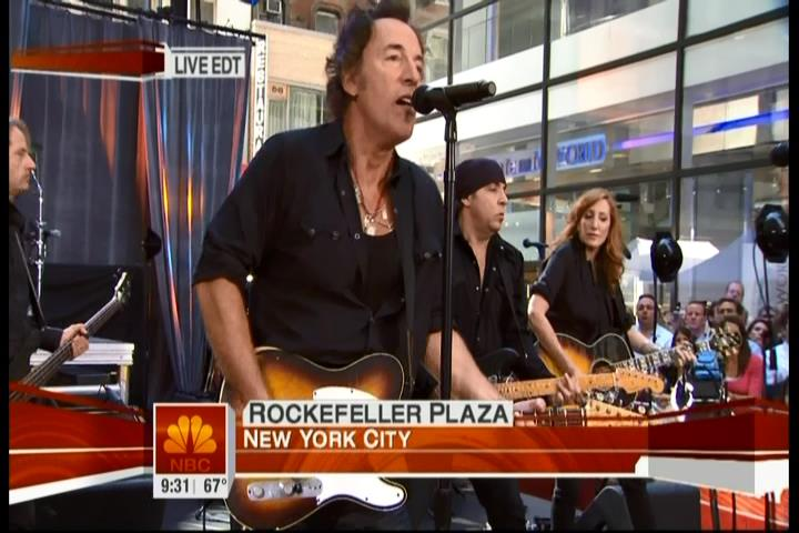 Bruce Springsteen performing LAST TO DIE during the 28 Sep 2007 at Rockefeller Plaza in New York City, NY, during The Today Show live broadcast