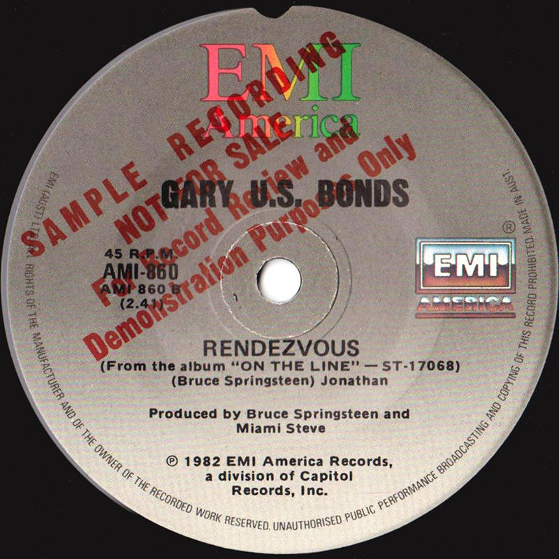 "Gary U.S. Bonds -- ""Love's On The Line / Rendezvous"""