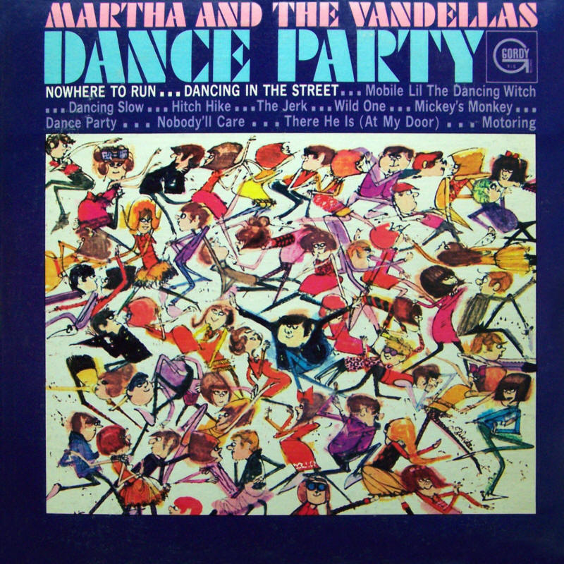 Martha And The Vandellas -- Dance Party (album cover art, mono version)