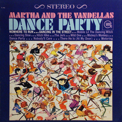 Martha And The Vandellas -- Dance Party (album cover art, stereo version)