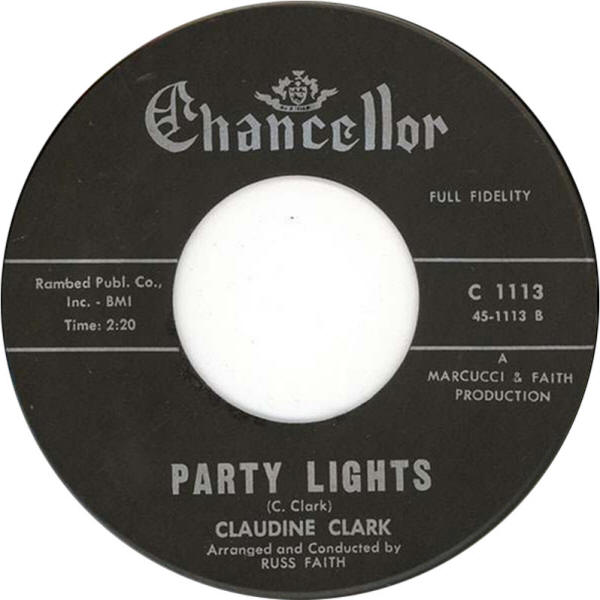 "Claudine Clark -- ""Disappointed / Party Lights"""