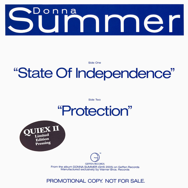 "Donna Summer -- ""State Of Independence / Protection"""