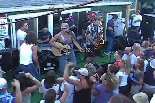 Bruce Springsteen performing ROSALITA (COME OUT TONIGHT) on 03 Sep 2001 at Donovan's Reef, Sea Bright, NJ (taken from amateur video footage)