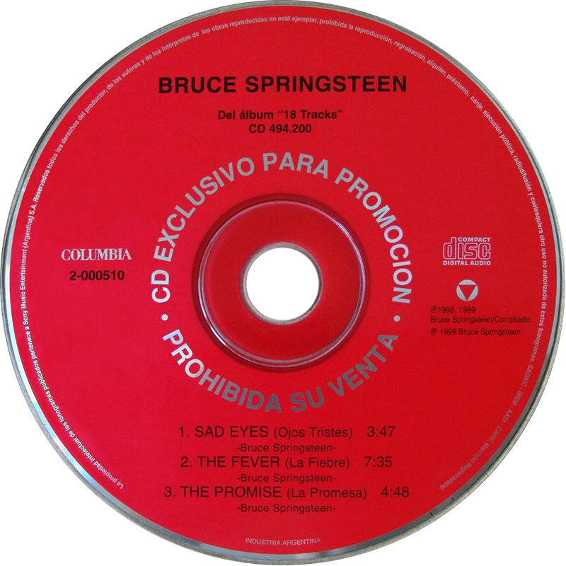 "Bruce Springsteen -- Del Álbum ""18 Tracks"""