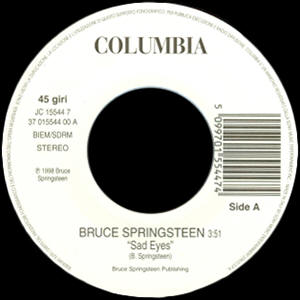 "Bruce Springsteen / Meja -- ""Sad Eyes / All 'Bout The Money"""