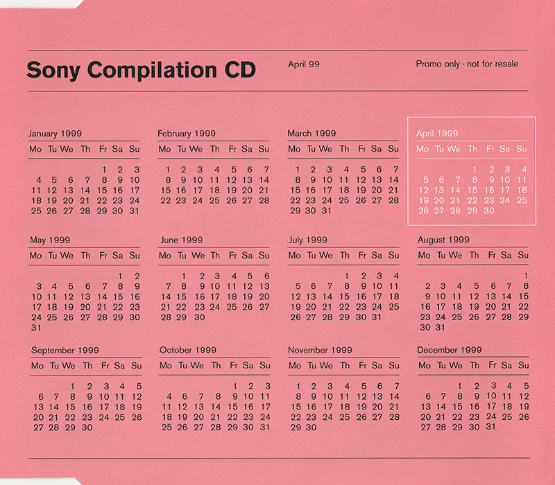 Various artists -- Sony Compilation CD: April 99