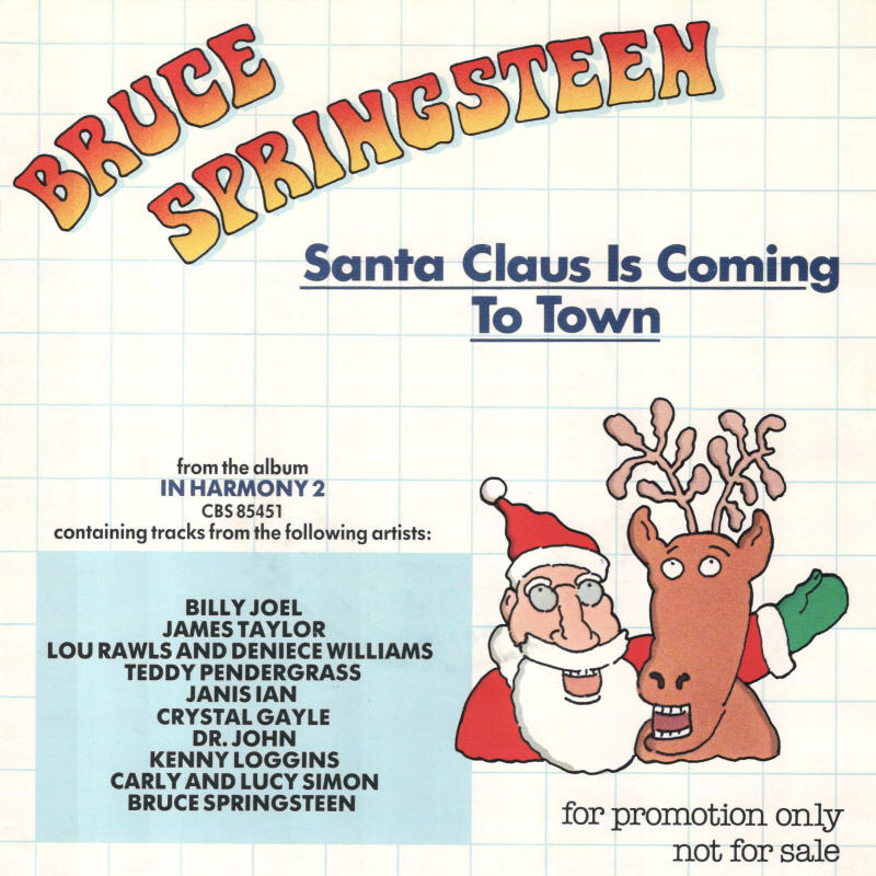 Bruce Springsteen / Billy Joel -- Santa Claus Is Comin' To Town / Nobody Knows But Me