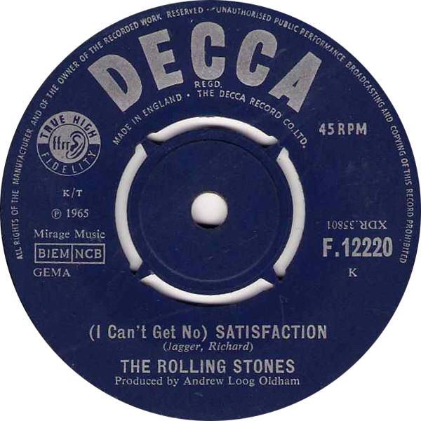 "The Rolling Stones -- ""(I Can't Get No) Satisfaction / The Spider And The Fly"""