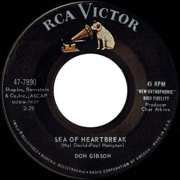 "Don Gibson -- ""Sea Of Heartbreak / I Think It's Best (To Forget Me)"""