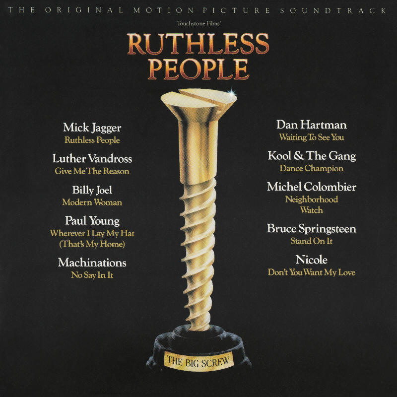 Various artists -- Ruthless People - The Original Motion Picture Soundtrack