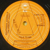 Southside Johnny &amp; The Asbury Jukes -- &quot;Talk To Me / This Time Baby&#039;s Gone For Good&quot; (1979 UK 7-inch single, promo, A-side label)<br/> [B