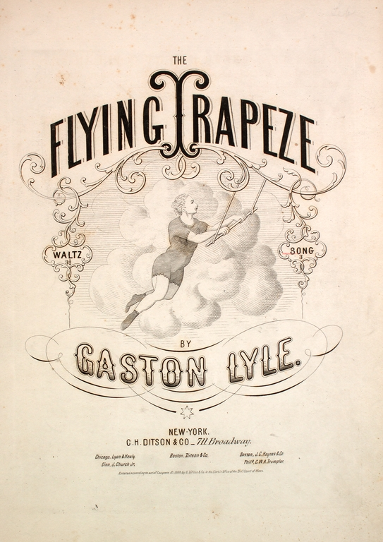 """The Flying Trapeze"" piano music sheet"