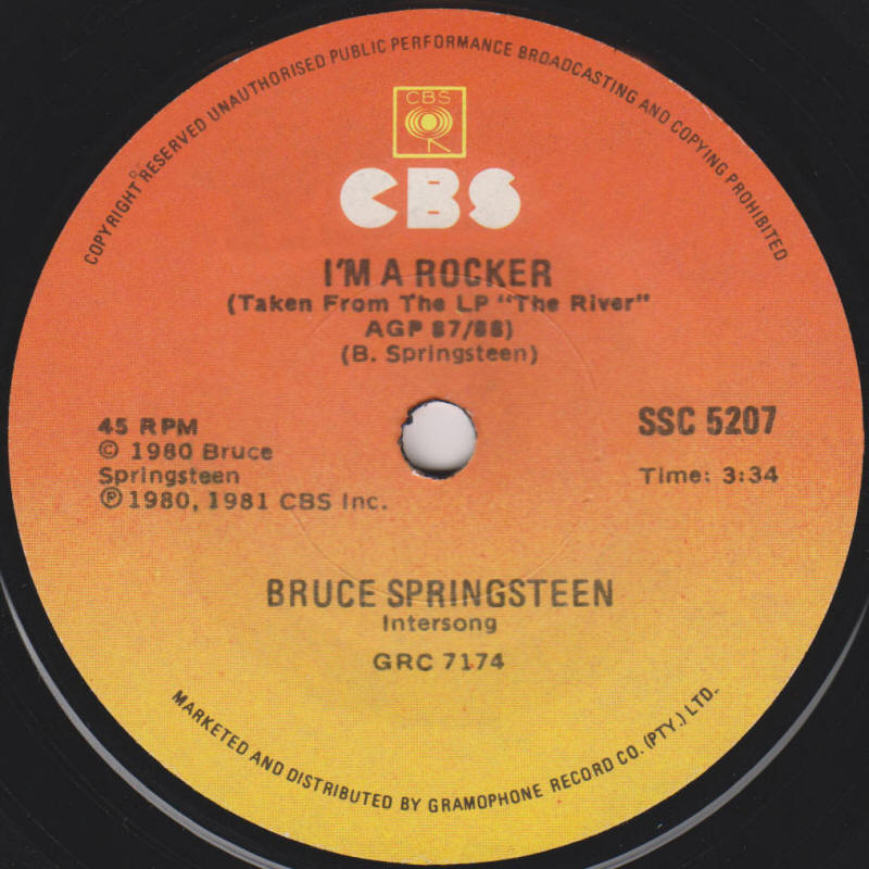 "Bruce Springsteen -- ""The Ties That Bind / I'm A Rocker"""
