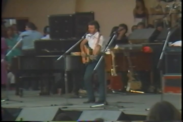 Bruce Springsteen performing THIS LAND IS YOUR LAND on 14 Jun 1981 at Hollywood Bowl, Los Angeles, CA