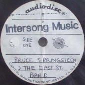 "Bruce Springsteen & The E Street Band ""Intersong Music"" acetate (side 1 label)"