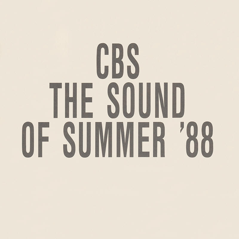 Various artists -- CBS - The Sound Of Summer '88