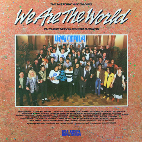 USA For Africa -- We Are The World (album cover art)