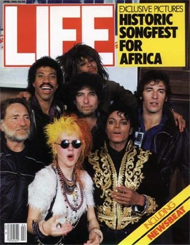1985 Life cover magazine featuring USA For Africa artists