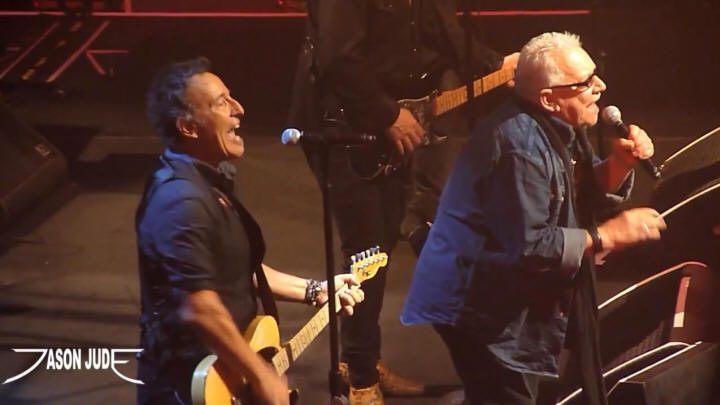 Bruce Springsteen and Eric Burdon performing WE GOTTA GET OUT OF THIS PLACE on 15 Mar 2012 at Moody Theater, Austin, TX (taken from an amateur Youtube video)