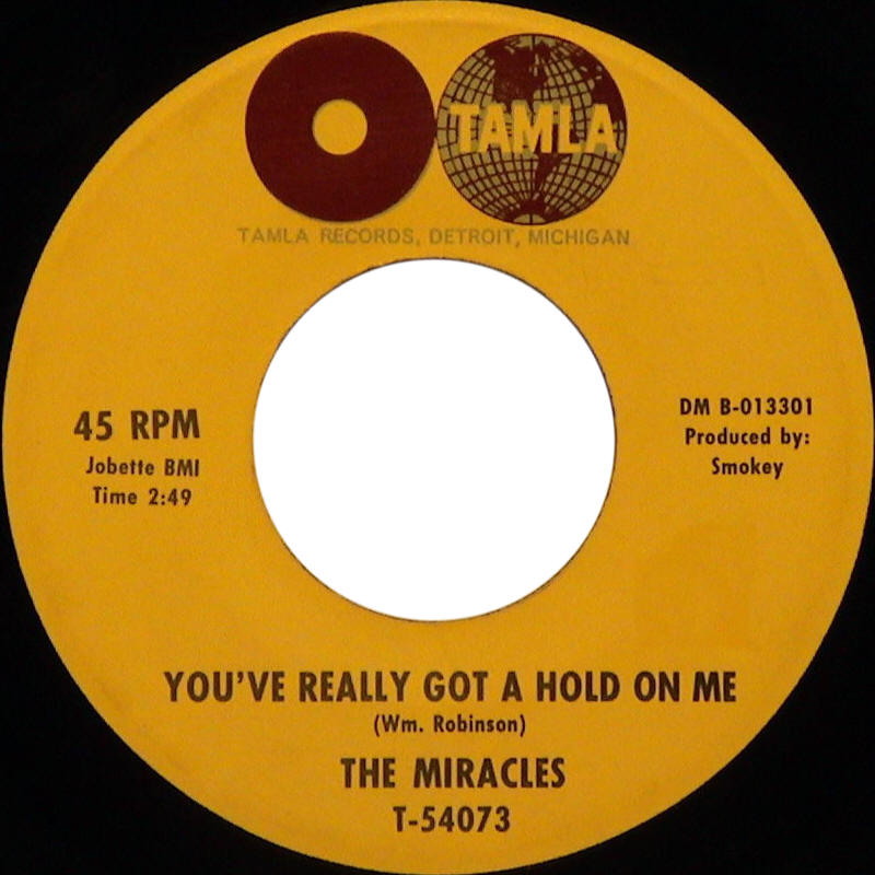 "The Mircales -- ""You've Really Got A Hold On Me / Happy Landing"""